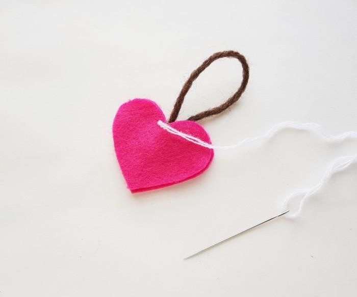 Easy Felt Heart Plush Craft For Kids step 4
