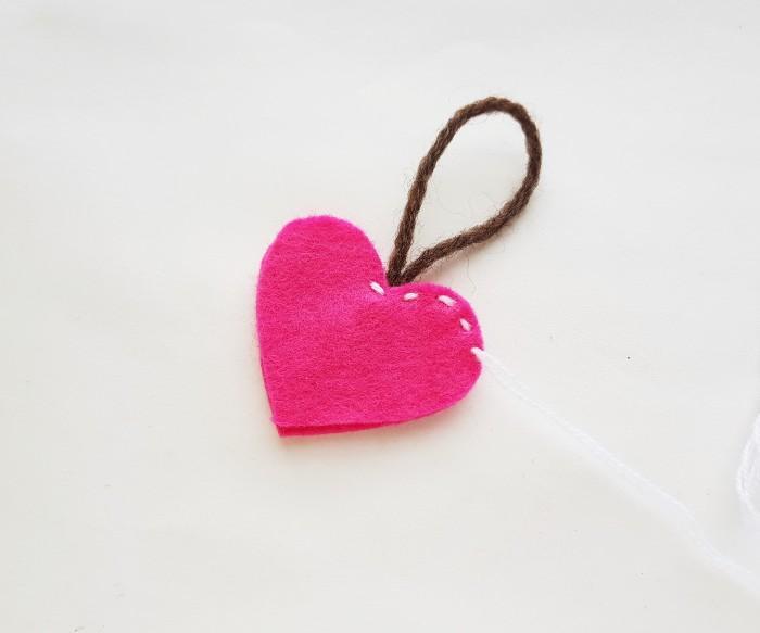 Easy Felt Heart Plush Craft For Kids step 5