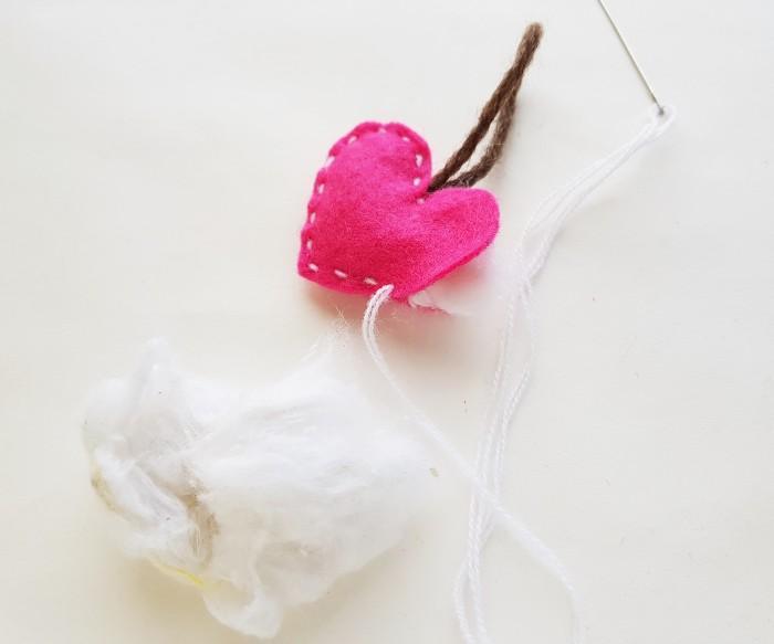 Easy Felt Heart Plush Craft For Kids step 6