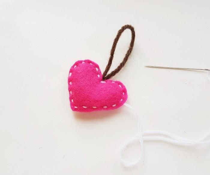 Easy Felt Heart Plush Craft For Kids step 7