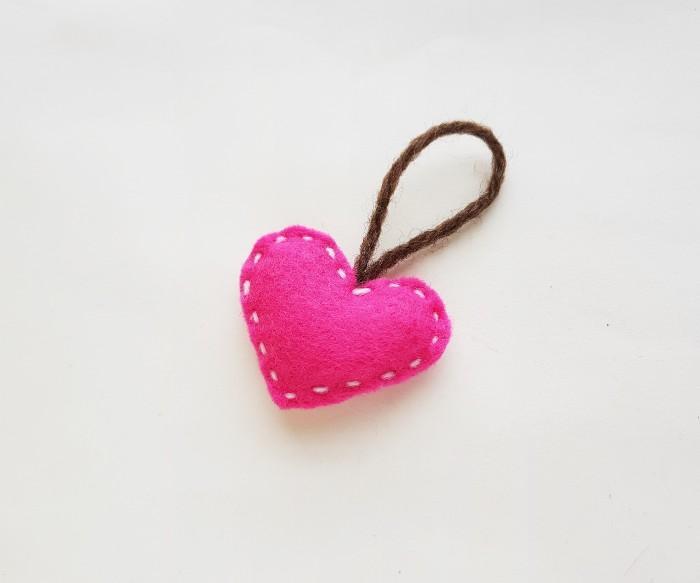 Easy Felt Heart Plush Craft For Kids step 8