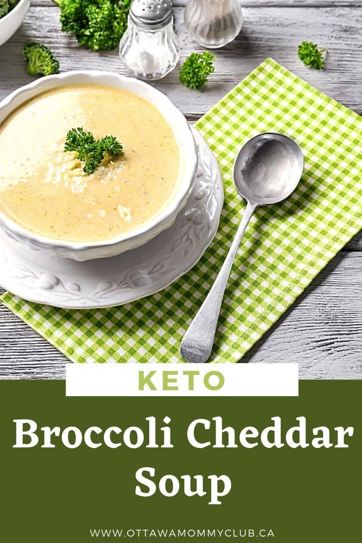 Keto Broccoli Cheddar Soup Recipe