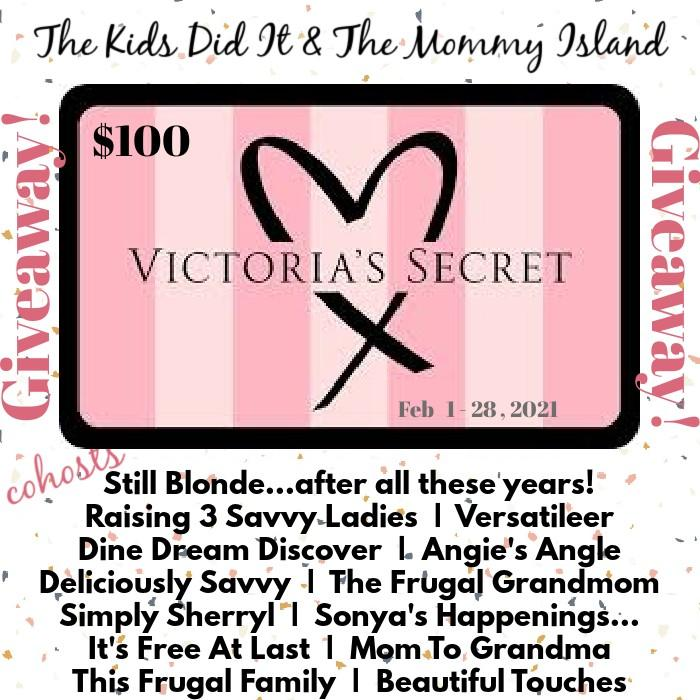 100 VICTORIA'S SECRET GIFT CARD GIVEAWAY