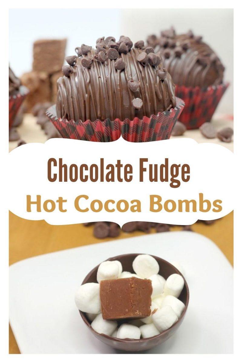 Chocolate Fudge Hot Cocoa Bombs