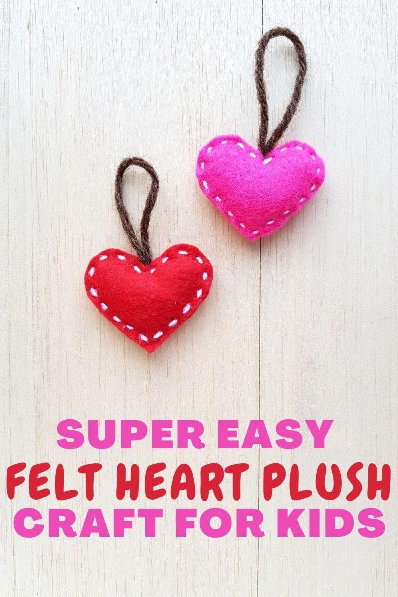 Easy Felt Heart Plush Craft For Kids