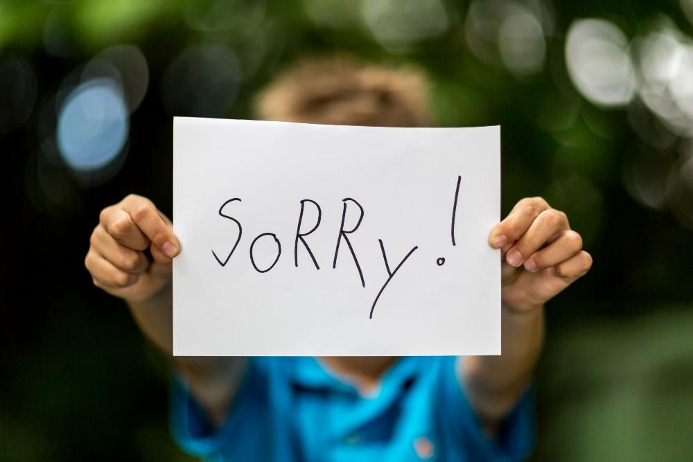 How To Teach Your Child To Say Sorry