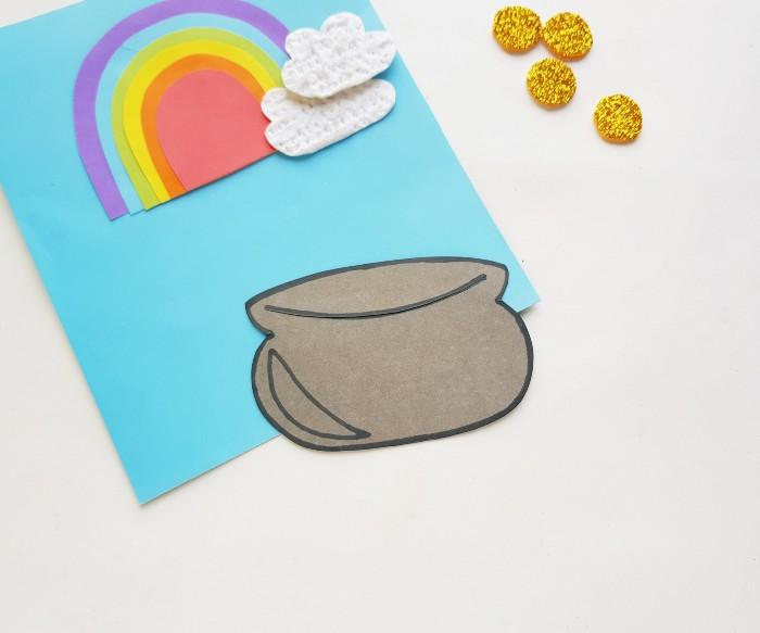 Pot of Gold Paper Craft  in process 5