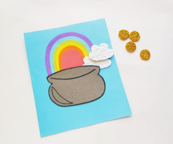 Pot of Gold Paper Craft  in process 6