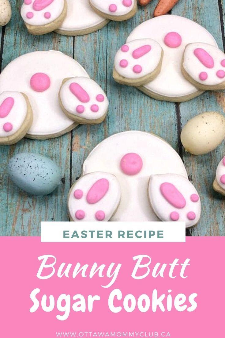 Bunny Butt Sugar Cookies
