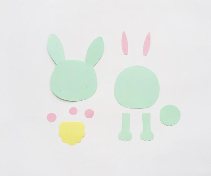 Easter Bunny Craft step 1
