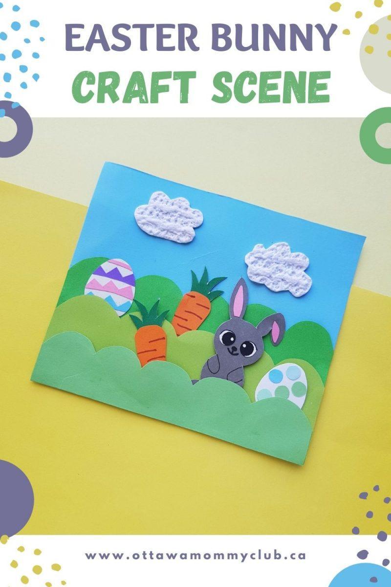Easter Bunny Craft Scene