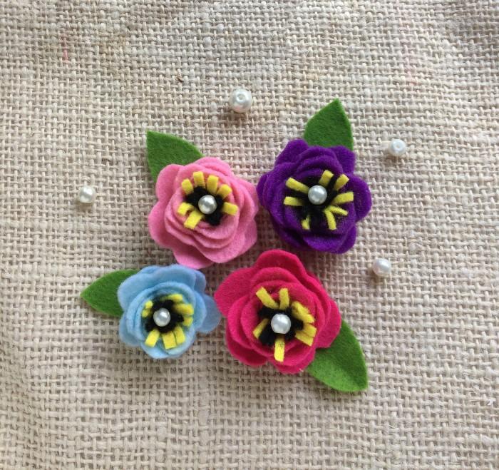 Felt Flower Craft With Printable Template