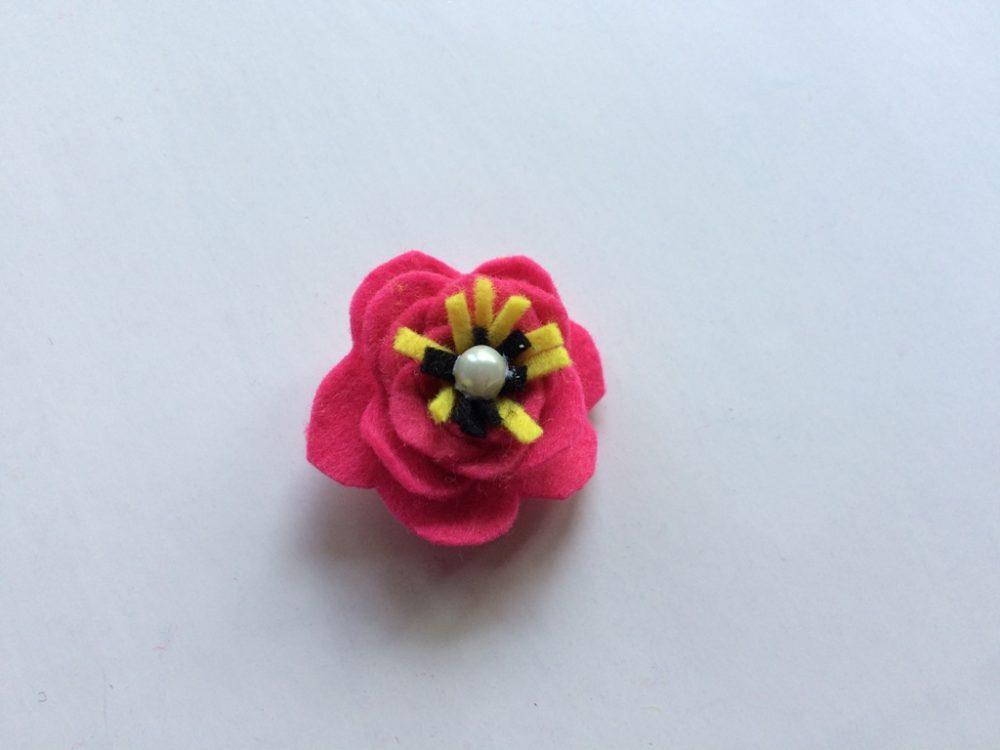 Felt Flower step 10