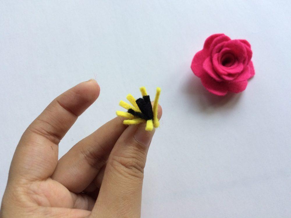 Felt Flower step 8