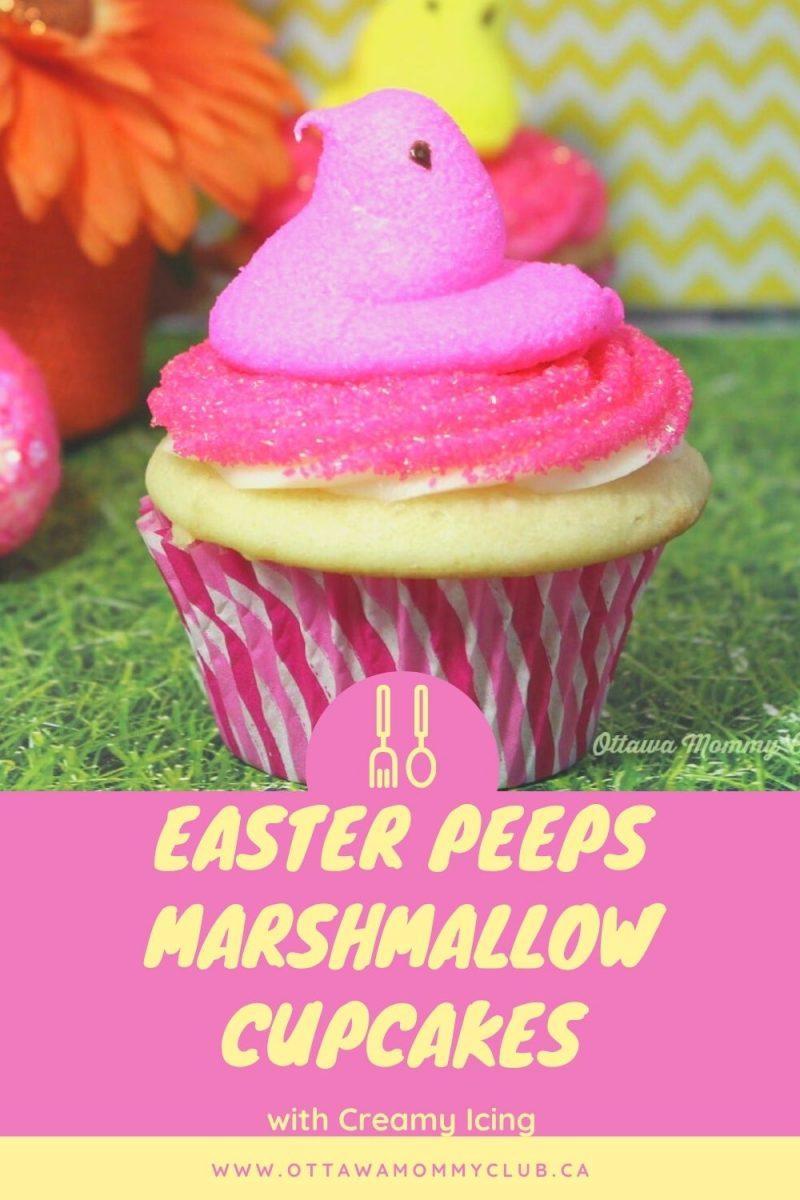 Easter Peeps Marshmallow Cupcakes