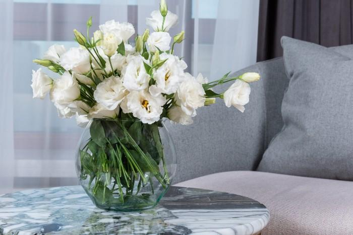 fresh Flowers in a vase on a table