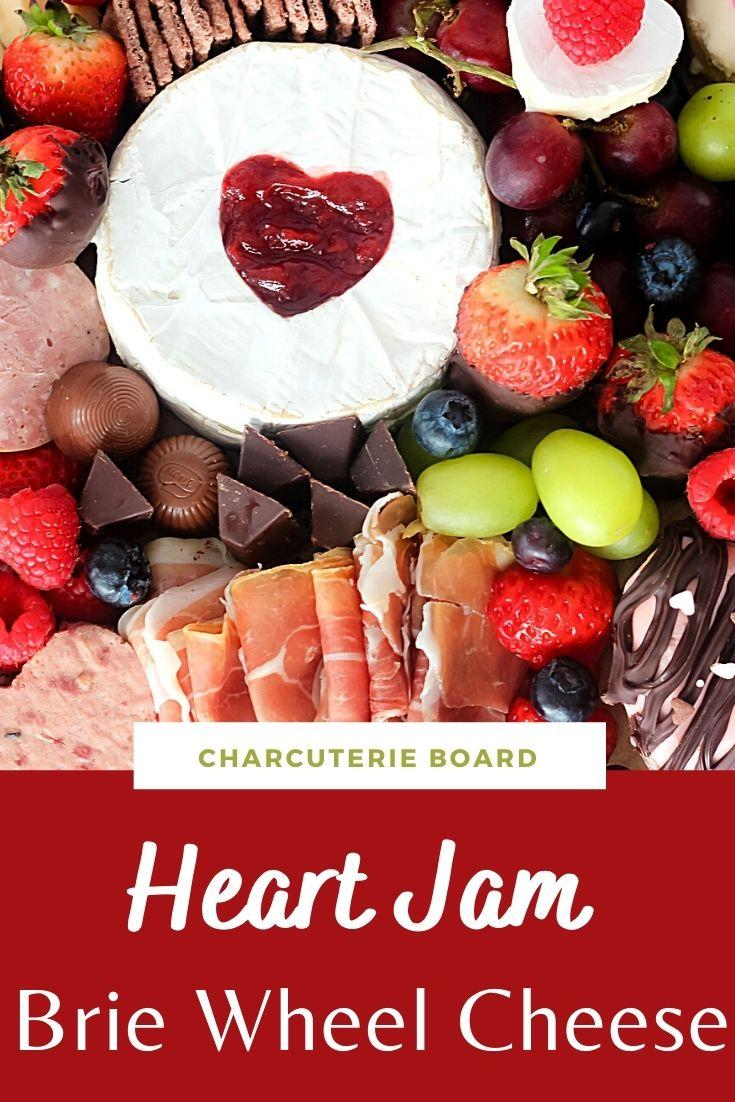 Heart Jam Brie Wheel Cheese