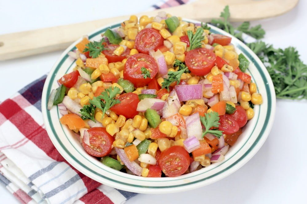 Corn Salad with Cajun Spices and Fire Roasted Corn