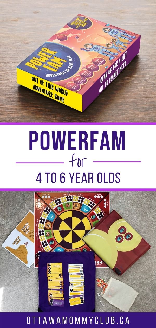 PowerFam Board Game + Play Mats For 4 To 6 Year Olds
