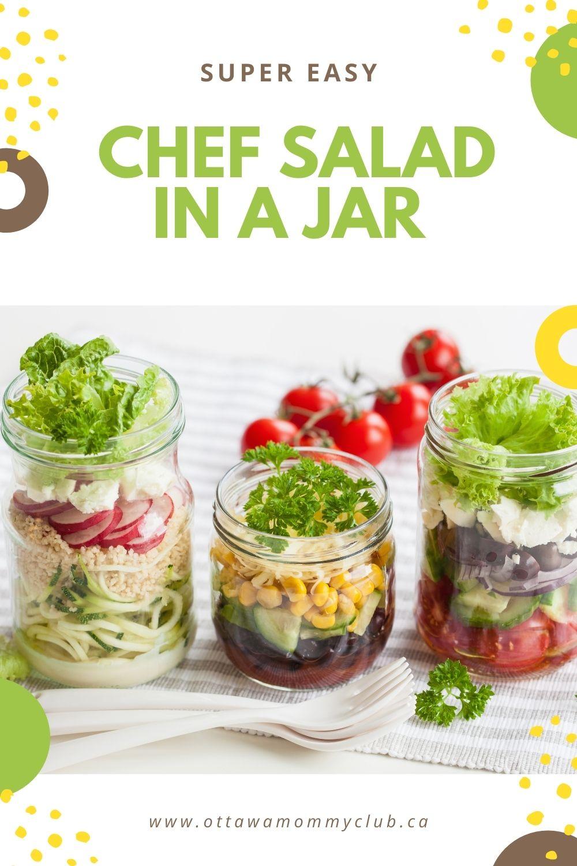 chef salad in a jar
