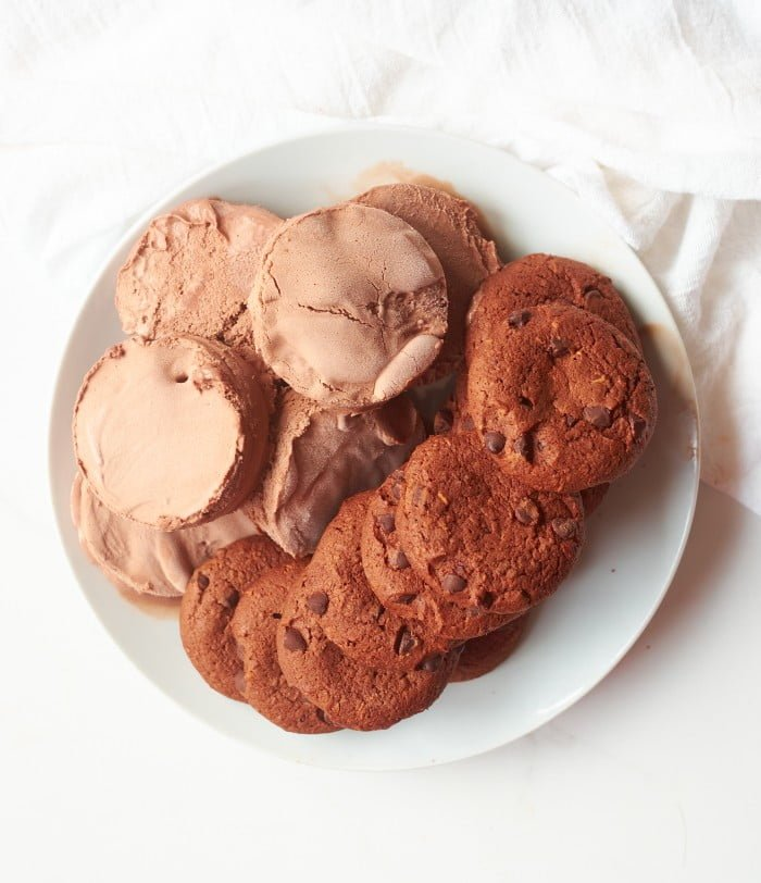 Ice Cream Sandwich Recipe in process