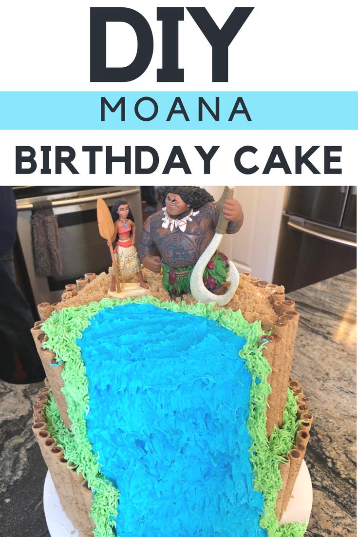 DIY Moana Birthday Cake