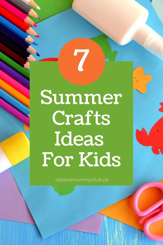 Summer Crafts Ideas For Kids