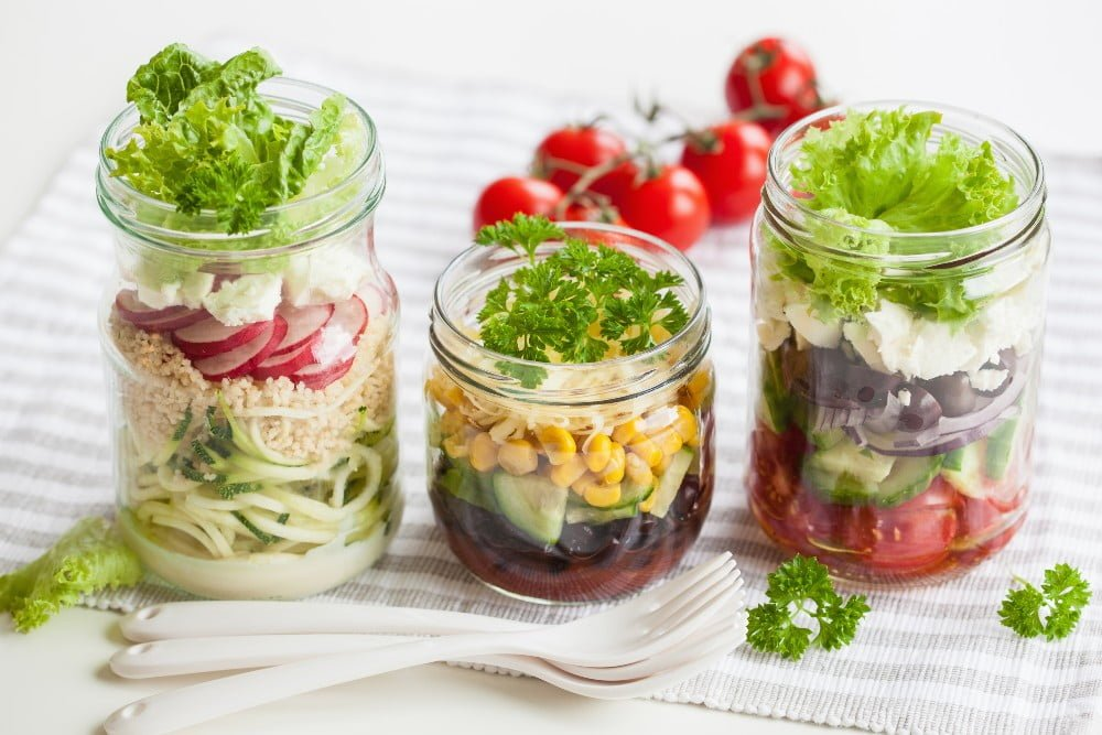 salads in a jars