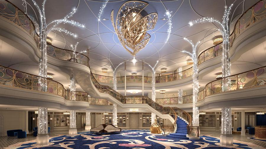 The Disney Wish Atrium