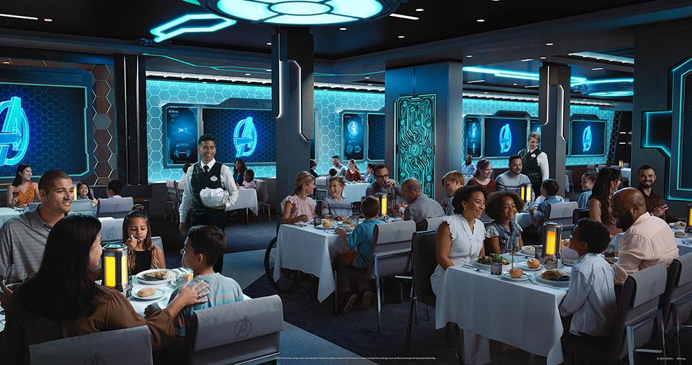 The Disney Wish restaurant: Worlds of Marvel