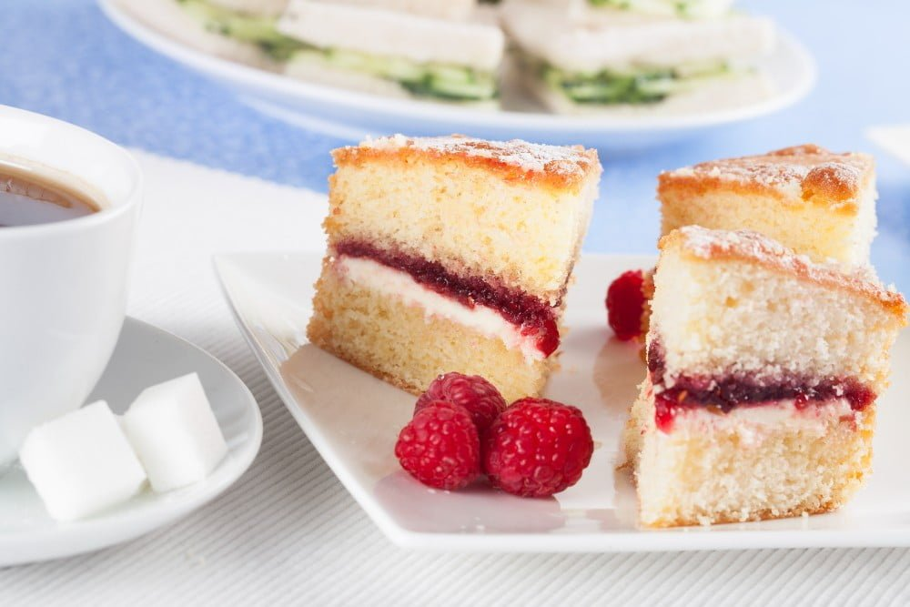 Cakes for afternoon tea party menu