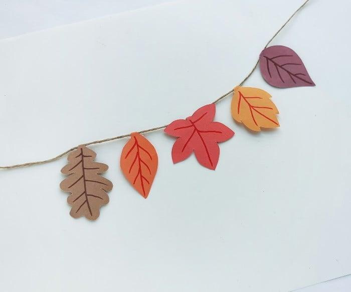 DIY Fall Paper Leaf Garland