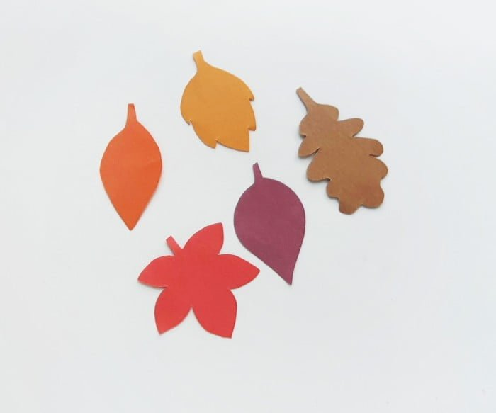 Fall Leaf Garland Step 1