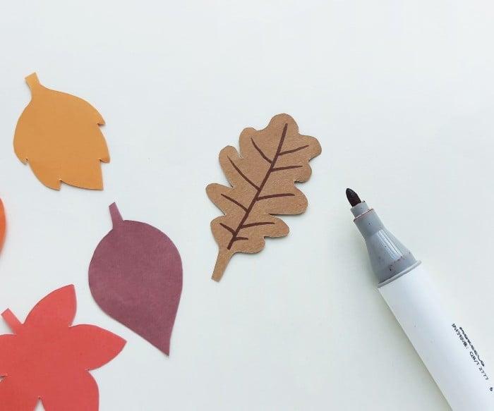 Fall Leaf Garland Step 2