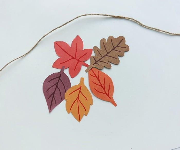 Fall Leaf Garland Step 4