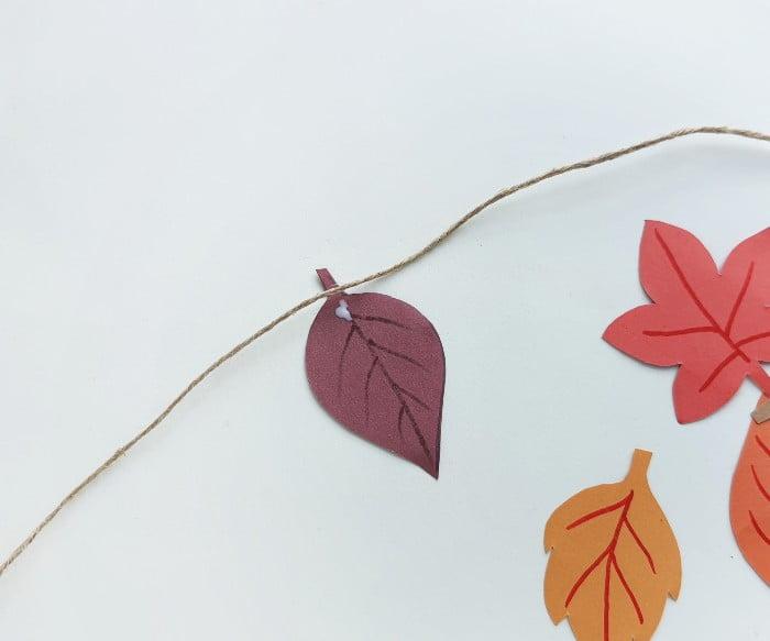 Fall Leaf Garland Step 5