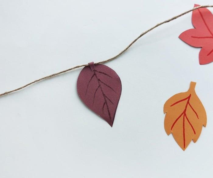 Fall Leaf Garland Step 6