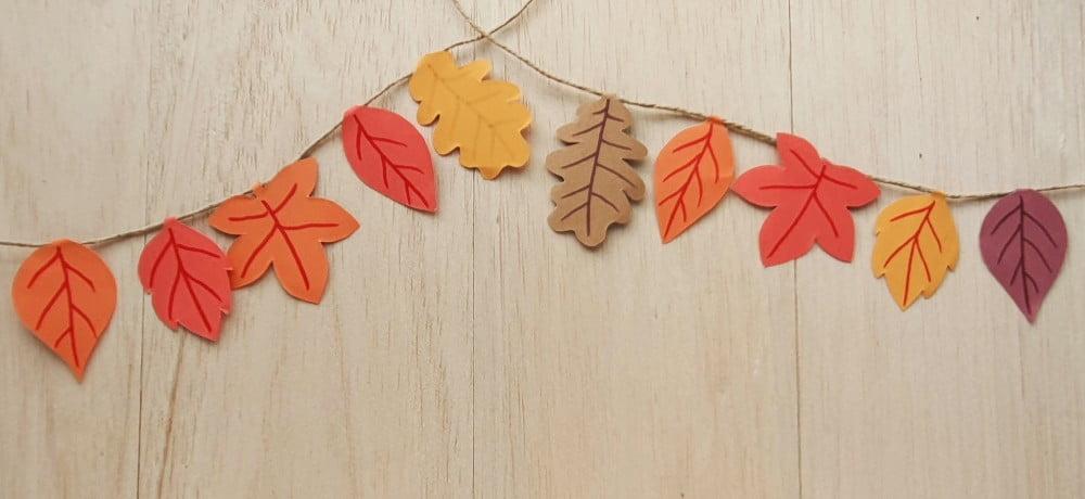 DIY Fall Paper Leaf Garland DIY Fall Paper Leaf Garland With Printable Template