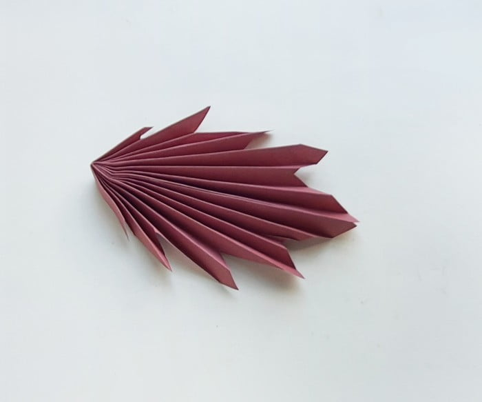 Origami Maple Leaves in process