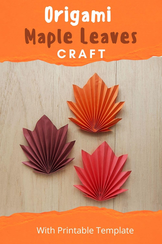 Origami Maple Leaves Craft