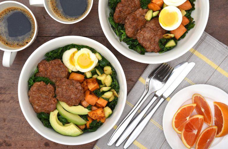 Bountiful Breakfast Bowl with Turkey Sausage Recipe