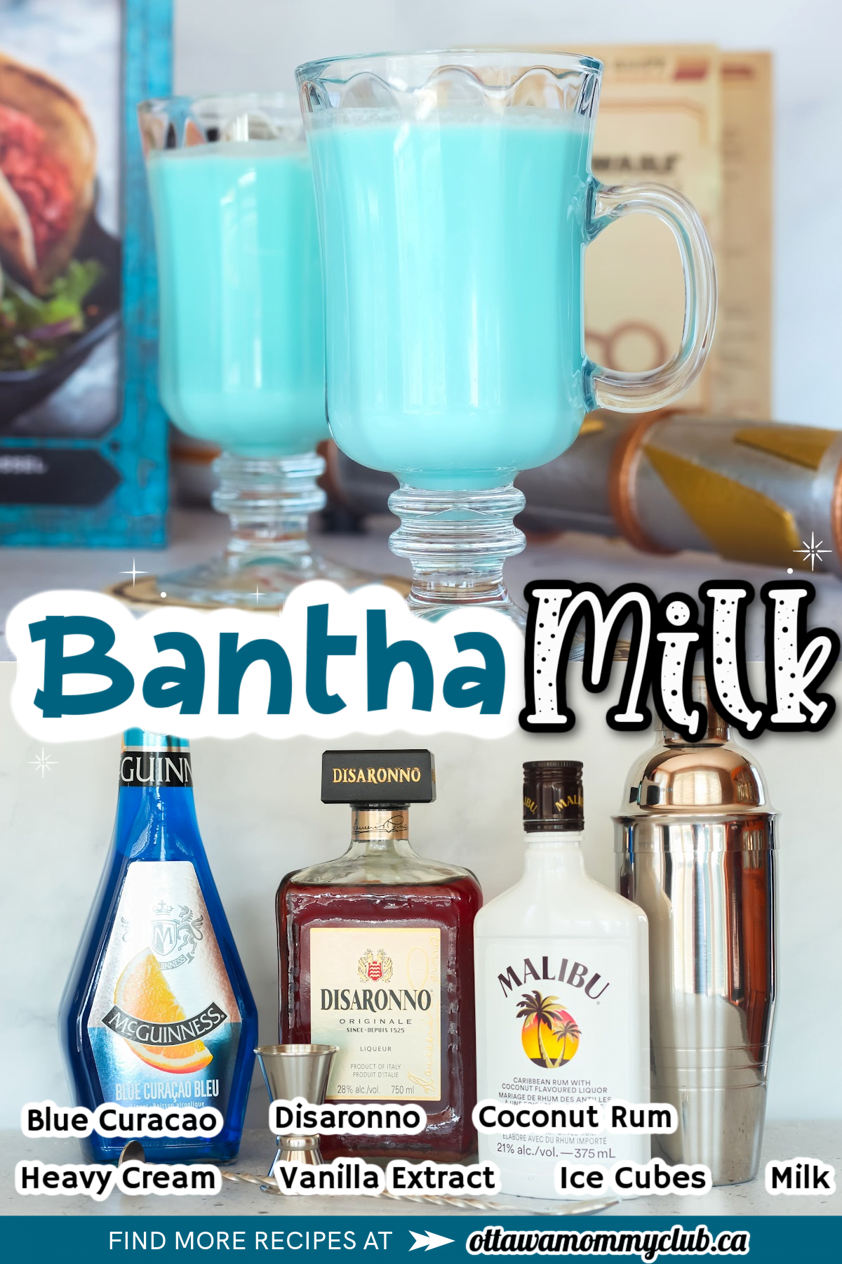 Bantha Milk Cocktail And Mocktail Inspired By Star Wars: Galaxy's Edge