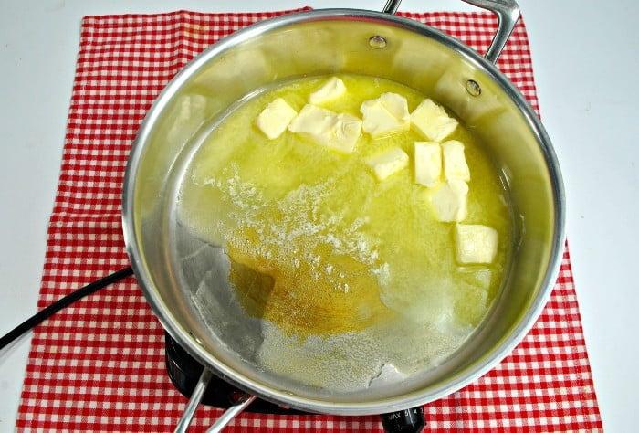 Snickerdoodle apple cobbler in process 1