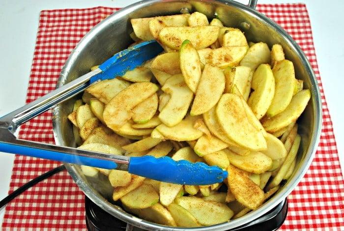 Snickerdoodle apple cobbler in process 2