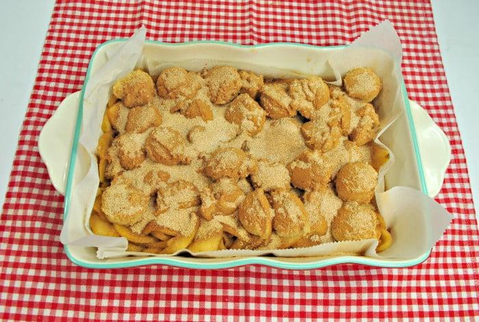 Snickerdoodle apple cobbler in process 5